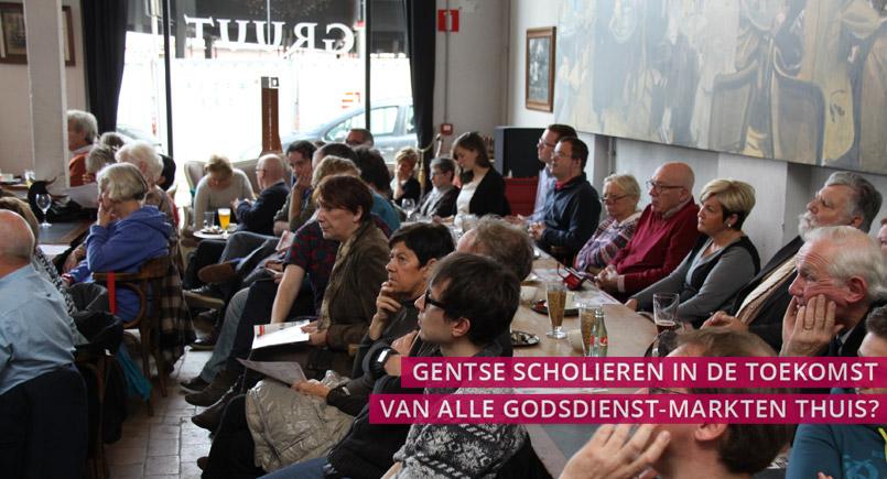 speakers corner, gent, debat, godsdienst, school