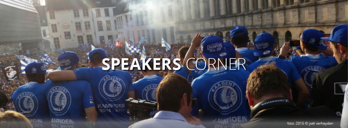 Speakers corner, KAA Gent kampioen